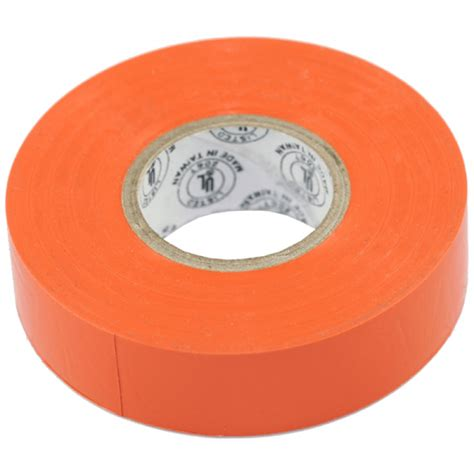 orange colored electrical tape    case