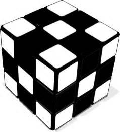 Rubik's Cube Clip Art Black and White
