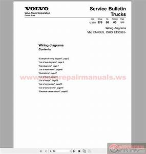 Volvo Truck Vm  Em-eu5 Wiring Diagram