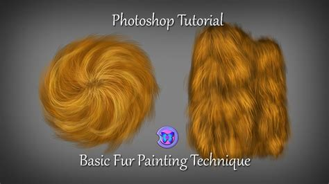 photoshop digital painting tutorial how to paint fur