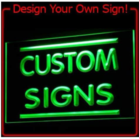 7 colors tm sign design your own led light sign custom