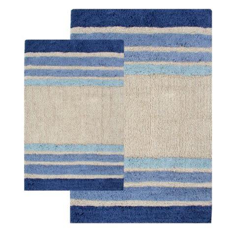chesapeake merchandising  piece tuxedo stripe bath rug