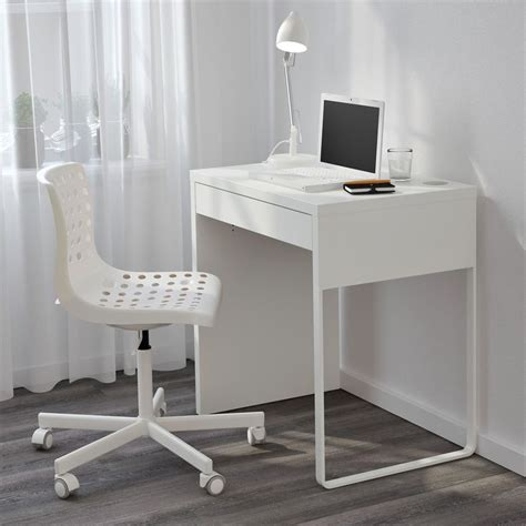 Deliver in 30 available working days. Narrow Computer Desk Ikea MICKE White for Small Space ...