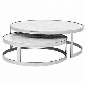 Eichholtz fletcher modern classic white marble top round for White nesting coffee table