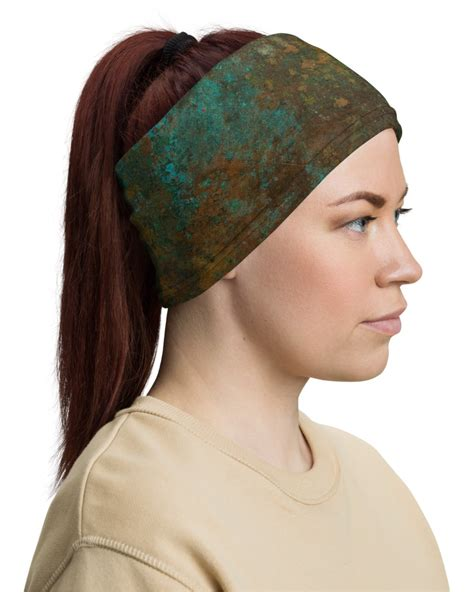 rusted copper face mask neck warmer sporty chimp legging workout gear