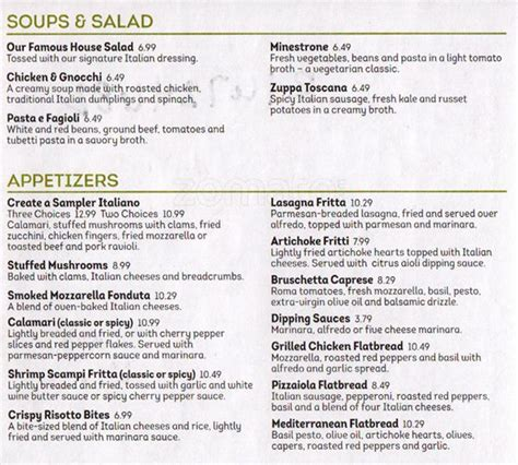 olive garden menu olive garden menu menu for olive garden silverdale