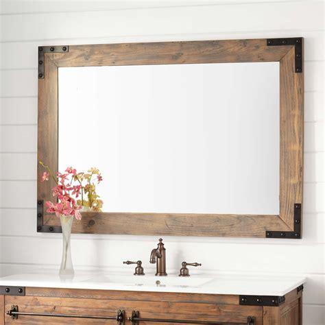 bonner reclaimed wood vanity mirror gray wash pine