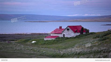 remote house remote house overlooking the coast in iceland stock video footage 3059728
