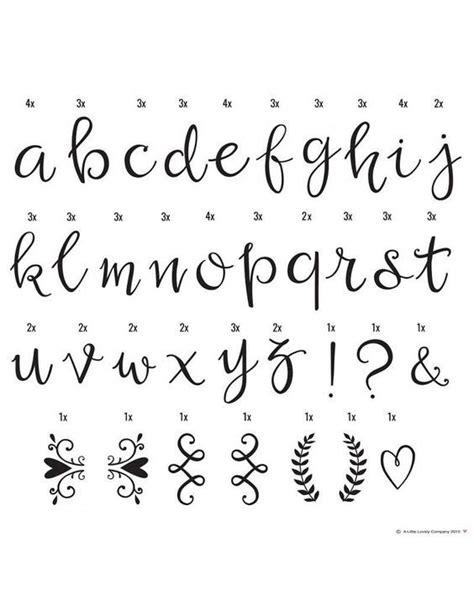 Pretty Cursive Fonts Letters