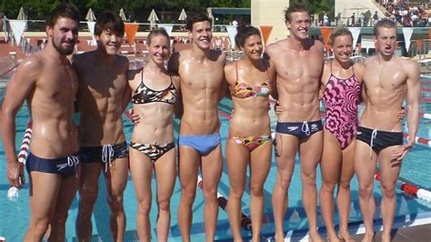 australian swimming team shows   bodies  camp