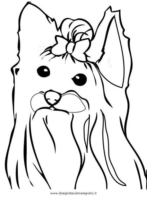 mini cuccioli da colorare disegno yorkshire terrier 2 animali da colorare