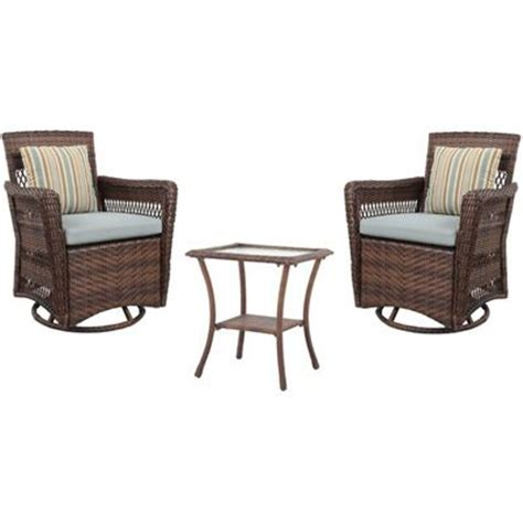 brookshire 3 resin wicker patio conversation set