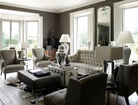 Taupe Gray Living Room by This And Refined Living Room Was Designed With