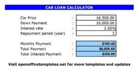 car loan calculator open office templates