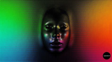 2560x1440 Px Face Pixels Rainbow Colors High Quality
