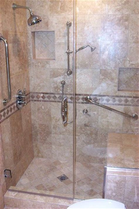 walk in showers with seats shower stall with seat on pinterest tiled showers traditional bathroom and showers