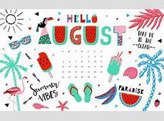 August 2018 Desktop Calendar Calendar 2018