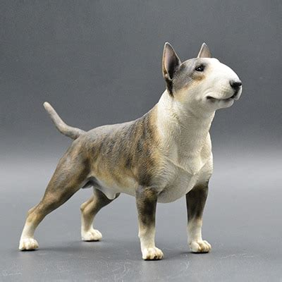 bull terrier model ornaments resin crafts simulation gift
