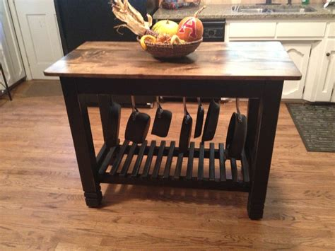 kitchen table or island 24 x 48 built kitchen island with pots pans