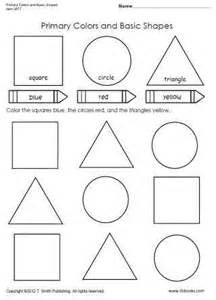 Primary Colors and Shapes Worksheets