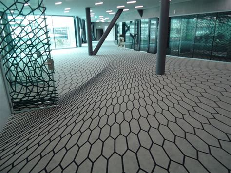 modern floor tiles carpet trends geometry optical illusions