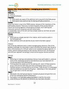 facilitation training materials facilitator guide With facilitation plan template