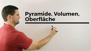 Wasservolumen Berechnen : pyramide volumen oberfl che h he pythagorasrechnungen etc mathe by daniel jung youtube ~ Themetempest.com Abrechnung