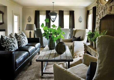 Sofa Decorating Ideas by Black Leather Sofa Decorating Ideas Curtains For
