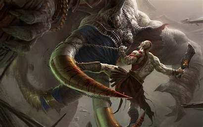 War God Fantasy Horns Monsters Warriors Wallpaperup