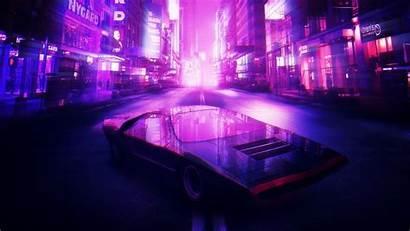 Synthwave Retro 4k Neon 1980s Wallpapers Romeo