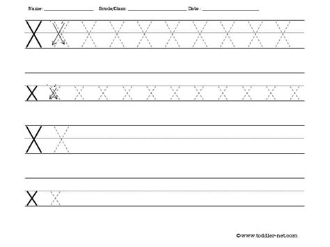 tracing and writing letter x worksheet