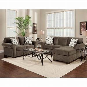 Fabric sectional sofa and loveseat set with pillows for Modern ash living room furniture