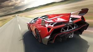 Red Lamborghini Veneno Wallpaper - wallpaper.