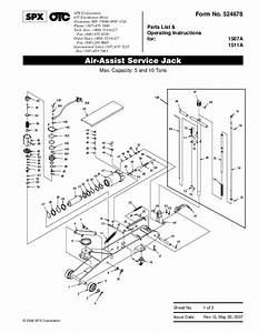 Spx Otc 1507a 1511a Air Assist Service Jack Owners Manual