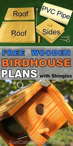 wooden bird box easy diy birdhouse plans