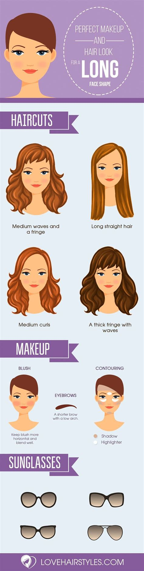 ideas  long face shapes  pinterest