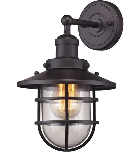 elk lighting seaport 8 inch 1 light wall sconce ls