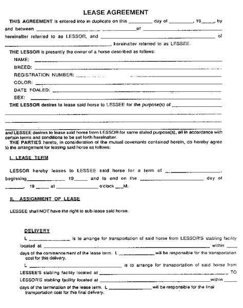 residential lease agreement forms documents  pdfs