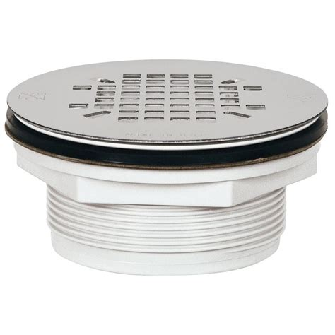 shower strainer sioux chief 2 in pvc shower drain with strainer 828 2pk