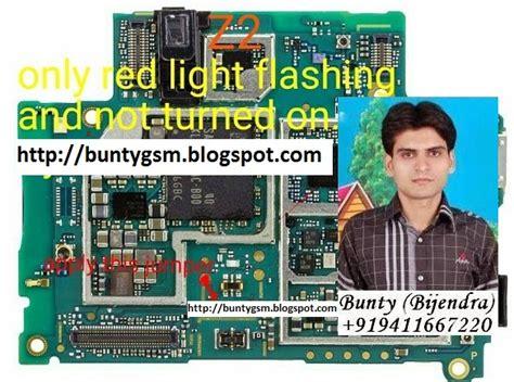 sony xperia z2 red light blinking problem solution imet