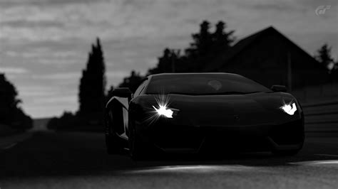 Dark Black Lamborghini Car Wallpaper Hd Free Download