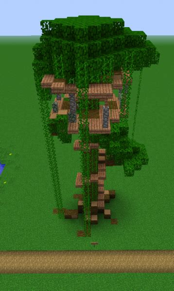 jungle treehouse grabcraft  number  source  minecraft buildings blueprints tips
