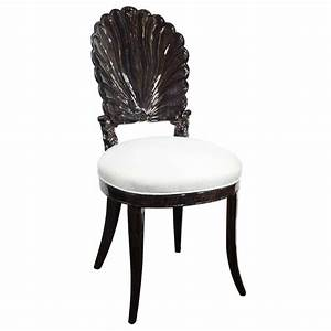 1940, U0026, 39, S, Hollywood, Vanity, Chair, With, Carved, Shell, Back, Design, At, 1stdibs