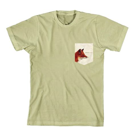 emarosa fox pocket print khaki pocket t shirt rsrc merchnow your favorite band merch