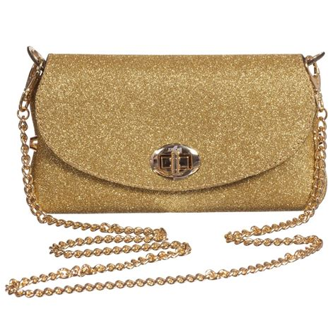gold 17cm 36 40 zaccone gold glitter bag with chain 17cm