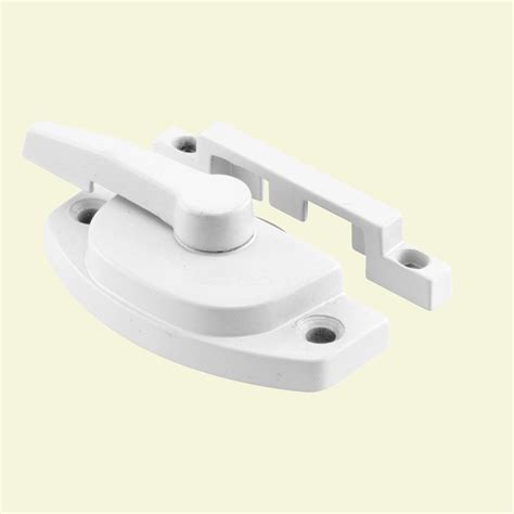 prime     white cast metal diecast window sash lock    home depot
