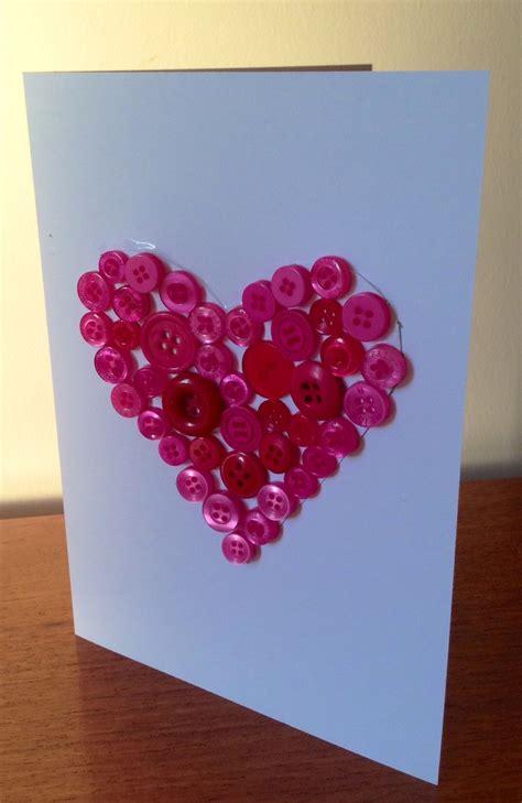 button heart card  kid craft