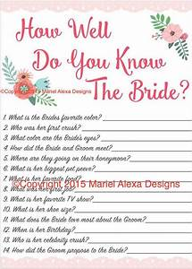 bridal shower game how well do you know the bride fun With wedding shower fun