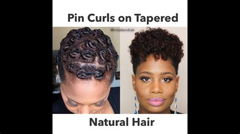 Pin Curls on Tapered Natural Hair 2 Methods YouTube