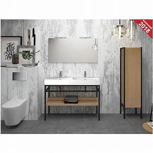 Meuble Vasque 120 : meuble sous vasque sur pied 120 cm steel cedam ~ Nature-et-papiers.com Idées de Décoration